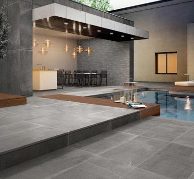 carrelage terrasse ciment gris